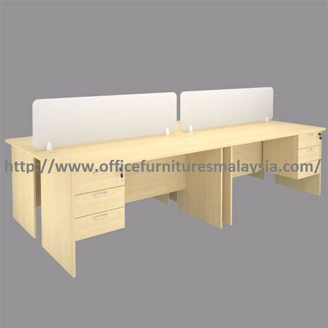 Meja Workstation modern design 4 seats office workstation divider perabot