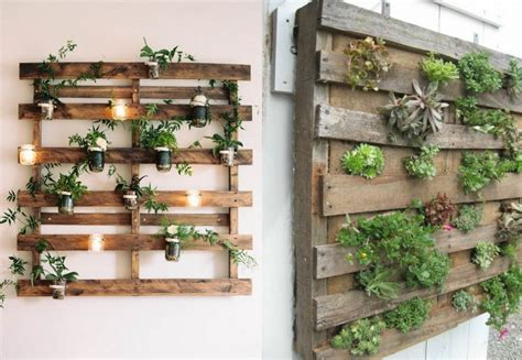 un jardin vertical en palettes joli place