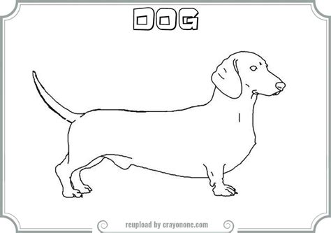 dachshund sign coloring pages coloring coloring pages