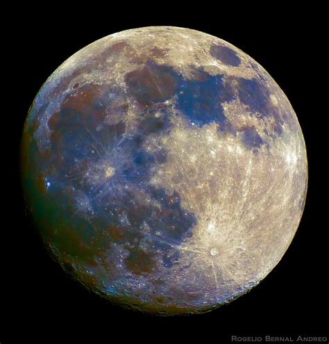 what color is the moon celestial a color of the moon by jose