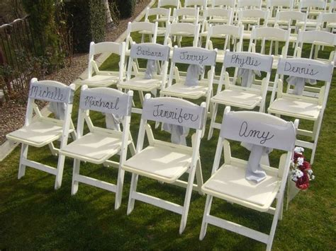 Wedding Ceremony Seating by Wedding Arrangements Ceremony Chair Reservation Signs