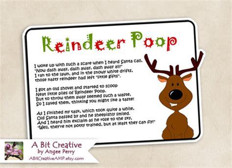 printable reindeer poop tags reindeer poop christmas stocking stuffer gag gift design diy
