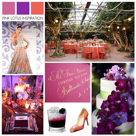 coral and chagne wedding pink lotus inspiration board pink purple coral wedding