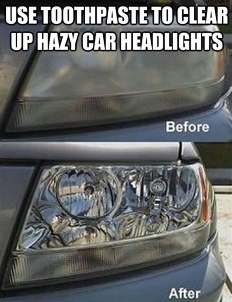 How To Clean Covers by Clean Headlight Cover With Toothpaste Tricks Of The