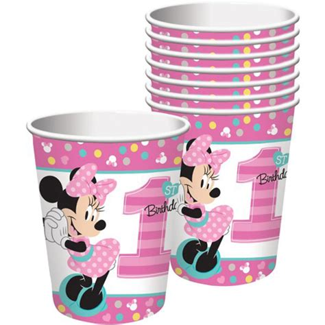 Paper Cup Minnie Mouse minnie mouse 1st birthday to be one 9oz paper cups 8ct