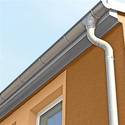 bauhaus dachrinne sarei halbrunde dachrinne nennweite 80 mm l 228 nge 2 m