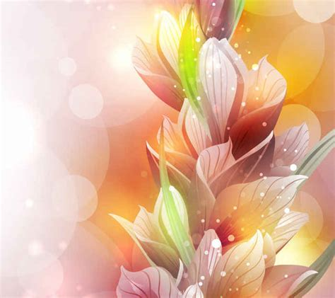 free vector spring lily flower background vector 365psd com