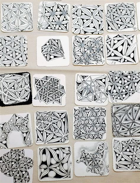 zentangle tile template 1571 best images about zentangle obsessive on
