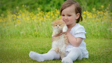 baby and baby and cat wallpaper 13994 wallpaper cool wallpaper
