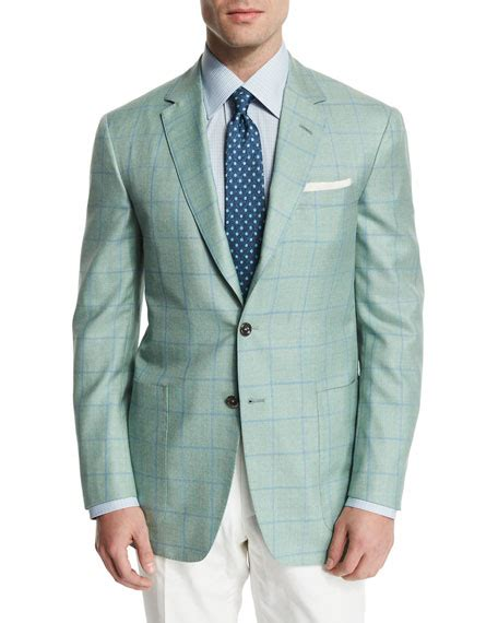 light blue windowpane sport coat windowpane wool blend sport coat light green blue