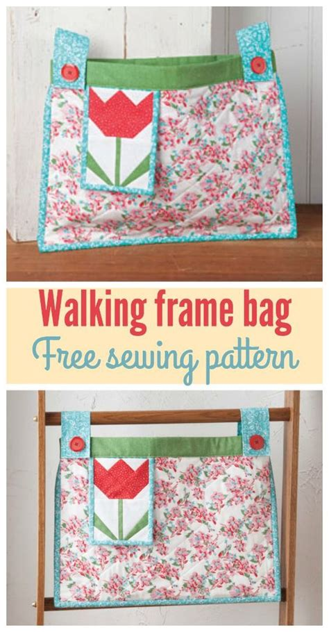 free sewing pattern purse bag tote tapestry shoulder bag walker bag sewing pattern and instructions tulip walker