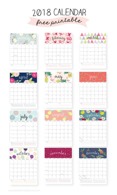 printable calendar 2018 fun happy birthday glitter gift tags eighteen25
