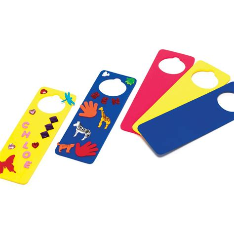 foam door hangers bright coloured foam door
