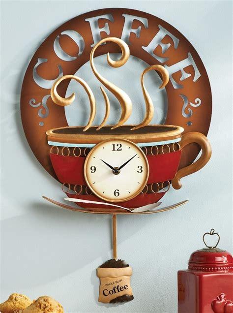coffee home decor coffee cup theme kitchen wall clock metal home decor