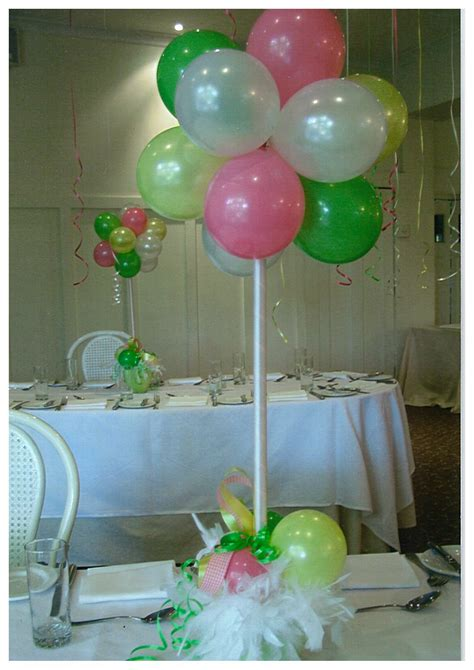 balloon centerpieces balloon center pieces baby shower ideas