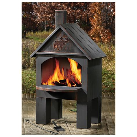 chiminea cooking grate castlecreek cabin cooking steel chiminea 281492