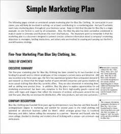 easy marketing plan template marketing strategy planning template pdf word