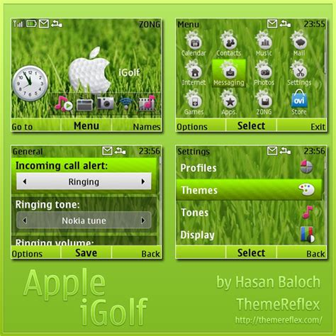 themereflex nokia x2 apple igolf theme for nokia c3 x2 01 themereflex