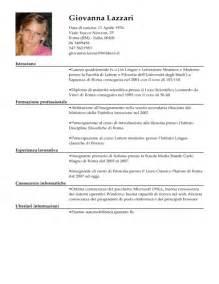 Curriculum Vitae Italiano by Modello Curriculum Vitae Maestro Esempio Cv Insegnante