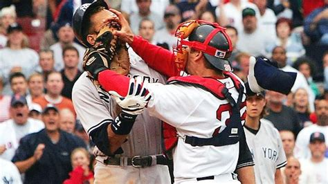 yankees red sox benches clear benches clear at the yankees v red sox game baseball