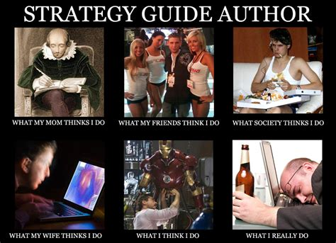 Author Meme - what a strategy guide author does meme dan birlew