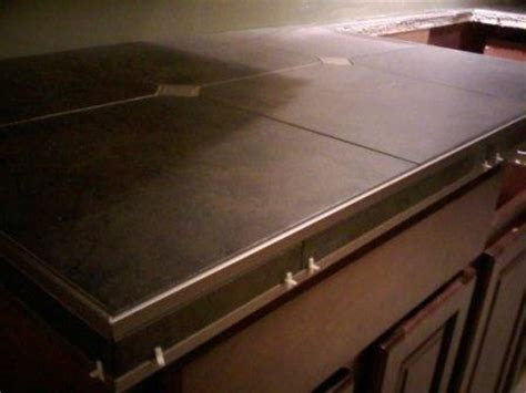 Tile Countertop Trim by Porcelain Tile Countertop Schluter Edge Profiles Epoxy