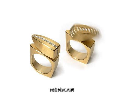 kinetic rings of stainless steel modern jewelry