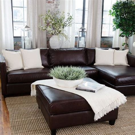 dark brown couch living room decor relaxed modern living chocolate brown leather sofa decorating ideas www