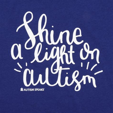 Shine A Light by S Shine A Light On Autism T Shirt Autism Speaks