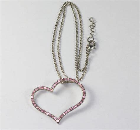 Rhinestone Pendent Necklace pink rhinestone pendant necklace asymmetrical design