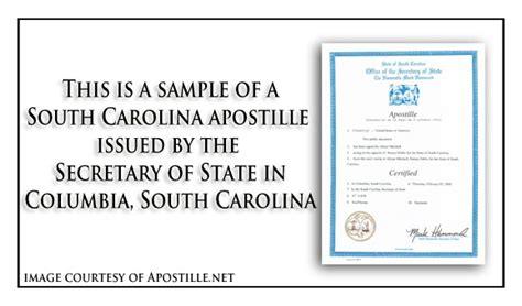 Marriage Records In South Carolina State Of South Carolina Apostille Apostille Service