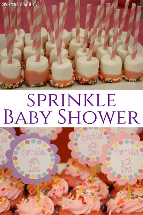 Sprinkle Baby Shower Food Ideas by Simply Made With Sprinkled With Shower
