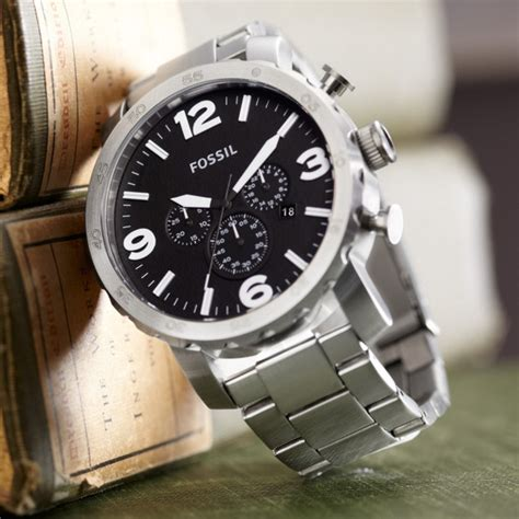 Fossil Original Jr 1436 Leather Stainless Steel nate chronograph stainless steel fossil