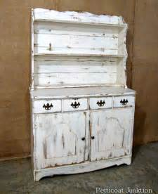 distressed white hutch white hutch with distressed paint