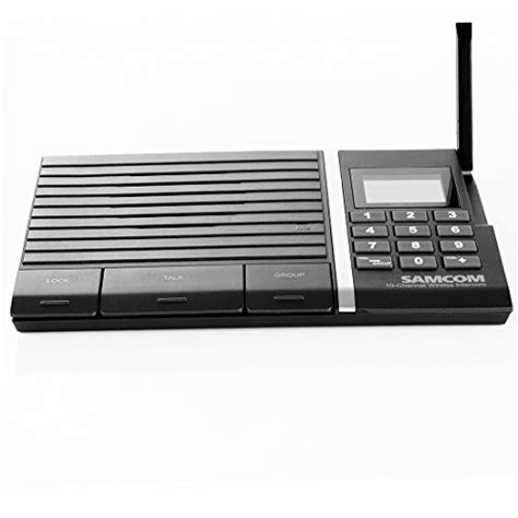 samcom 10 channel digital fm wireless intercom system for