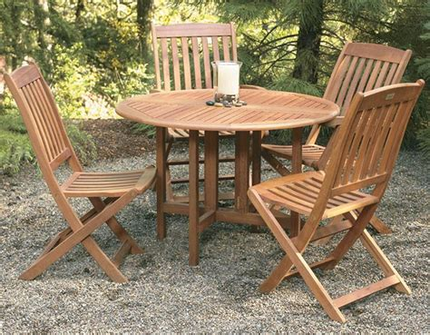 good Round Table With Leaf Dining Sets #2: wood-outdoor-furniture-Drop-Leaf-Round-Table.jpg
