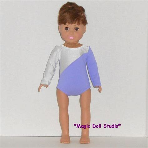 18 Inch Doll Wardrobe by Am135 18 Inch Doll Clothes Lavender And White Leotard