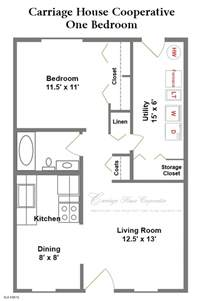 1 bedroom home floor plans floor plans carriage house cooperative