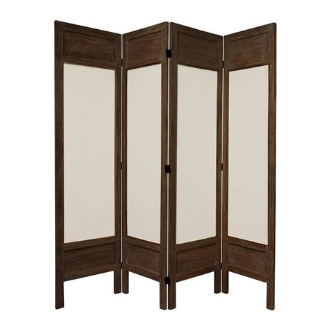 Privacy Screen Room Divider by Shop Furniture Room Dividers 4 Panel Burnt Brown