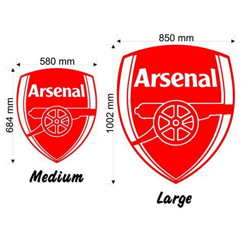 arsenal wall stickers arsenal badge wall decal sticker football sport