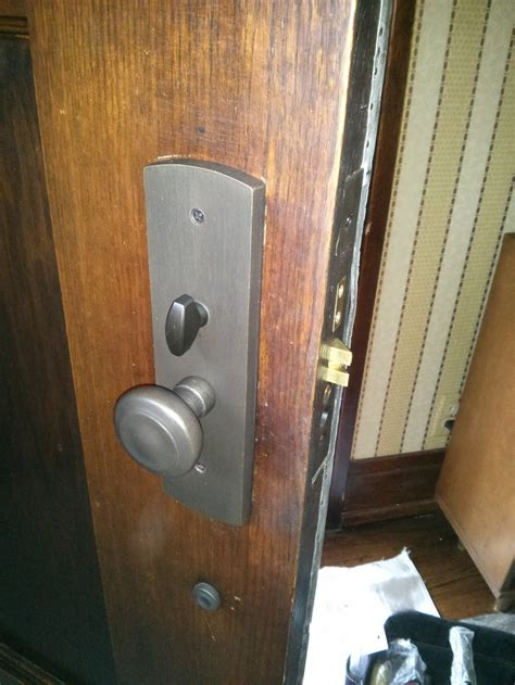 Change Front Door Lock Before And After Replace Mortise Lock On Front Door Phs Locksmiths