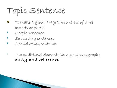 Topic Sentence Maker Essays by Topic Sentence