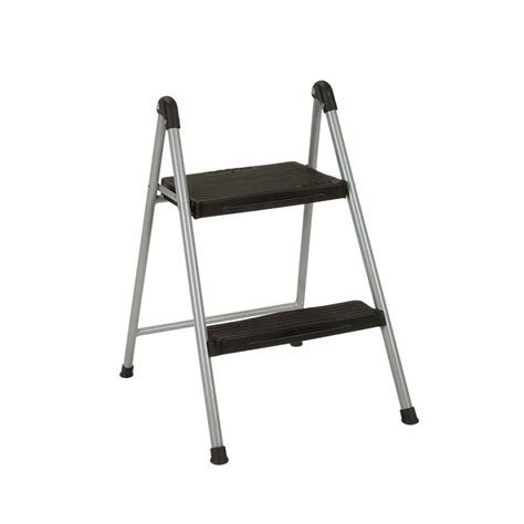 Cosco Two Step Stool by Cosco 2 Step Steel Step Ladder Stool Without Handle 11024pbl1e The Home Depot