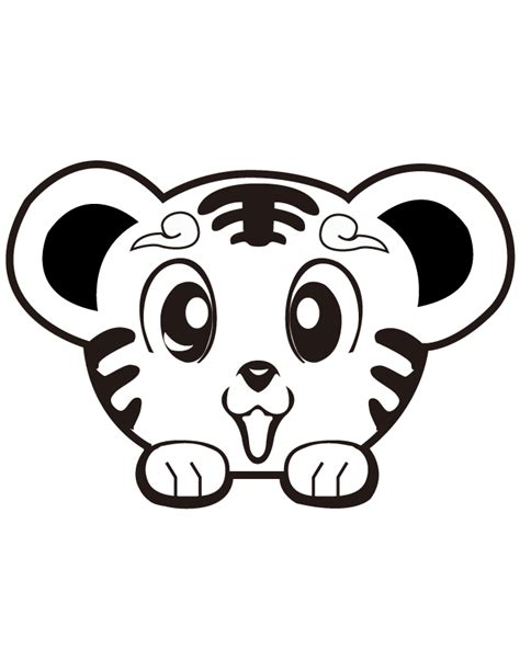coloring pages of cute baby tigers free cute coloring pages