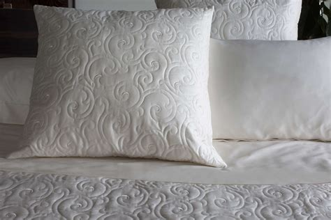 embroidered coverlet signoria valzer coverlet deco sham collection
