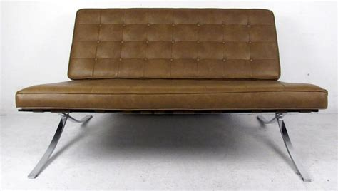 barcelona settee mid century barcelona style settee for sale at 1stdibs
