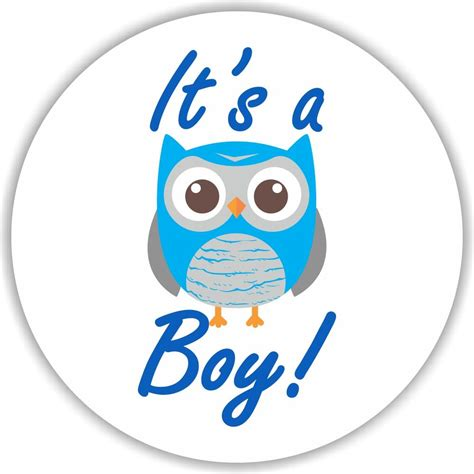 Owl Favors For Baby Shower by 108 It S A Boy Owl Stickers Labels Baby Shower