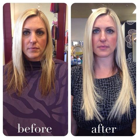 fusion hair extensions before and after before and after 3 bundles of 16 quot keratin fusion hair