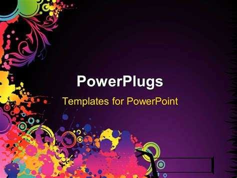 powerpoint template abstract colorful decorative shapes