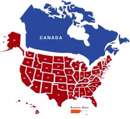 gaga map of canada and us
